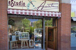 Visita virtual academias Bilbao Estudio Arrieta fachada escaparate