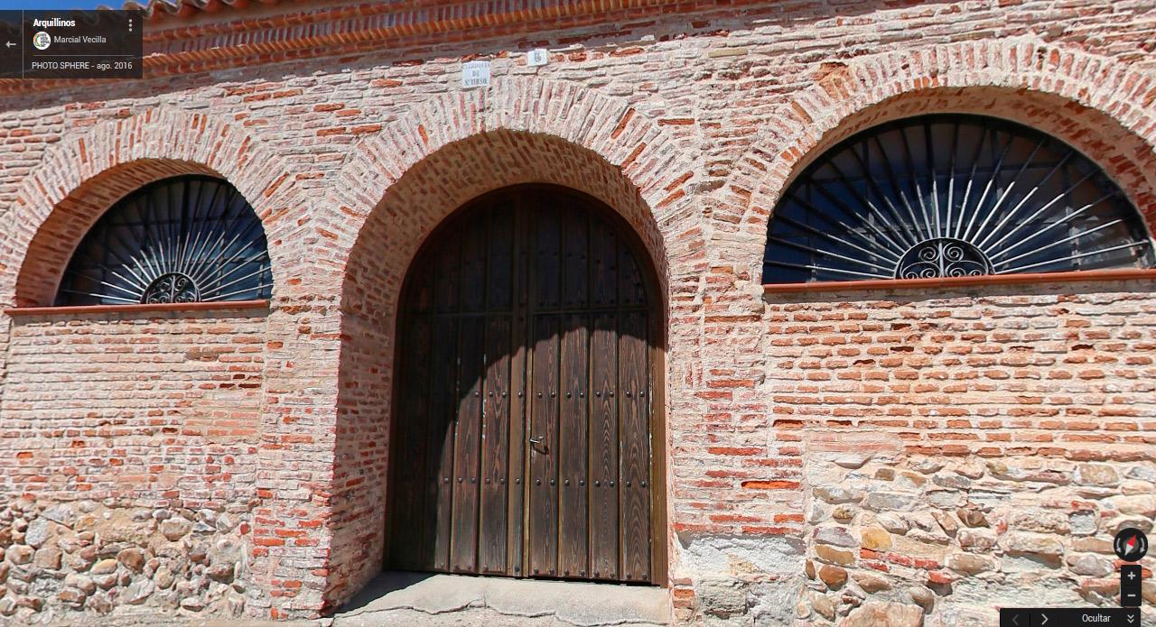 Inicio del tour virtual en Arquillinos desde la Parroquia de S. Tirso.