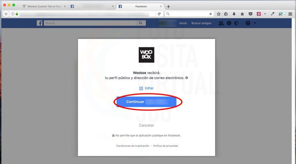 Instalar Woobox en Facebook